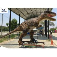 Quality Jurassic Park Life Size Realistic Dinosaur Statues Animatronic Rubber Models Display for sale