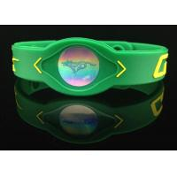 Quality Blank Silicone Power Energy Bracelet 3 Colors Vibrant  with 2 Holograms Food Grade for sale