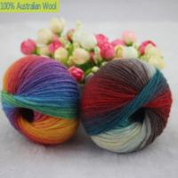 Quality 500g/lot luxury quality 100% wool yarns fancy iceland thick Hand knitting for yarn colorful knit yarn dye wool sweater k for sale