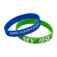 Quality Custom Ink - Filled Silicone Bracelets Sport Event Rubber Wristbands for sale