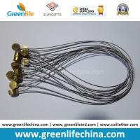 Quality Stainless Steel Wire Loop 15cm Length w/Clear Plastic Coated & Copper Cylinder OD9*T5mm for sale