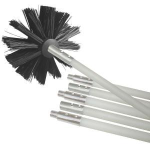 Quality Ventilation System Nylon Dryer Vent Brush Kit / Nylon Cleaning Set Roller Style for sale