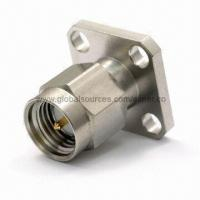 Quality Coaxial Connector with SMA Straight Plug for Panel Mount for sale