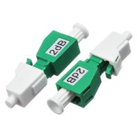 Quality LC / APC Single Mode Attenuator 2dB / 5dB  Male - Female With Green Color for sale