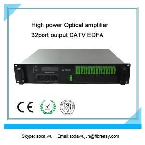 Quality fiber optical amplifier 2U rack  32 port  output CATV EDFA  19dBm each port output power for sale