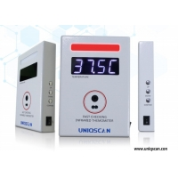 Quality Non-contact Voice Alarm Warning Fast IR Thermometer Temp Measurement Three Color Display for sale