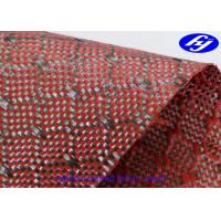 Quality Mesh Pattern Carbon Kevlar Fabric / Jacquard Hybrid Woven Filament Fiber Fabric for sale