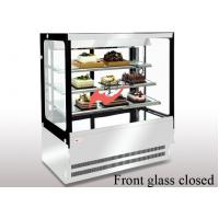 Anti - Fog  Square Cake Display Refrigerator , Food Display Cabinets With LED Lights
