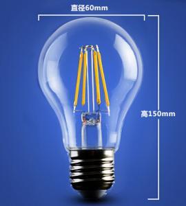 Quality RGB 4W 6W 8W A60 E27 Edison COG lamp LED Filament Bulb Light replace traditional bulbs for sale