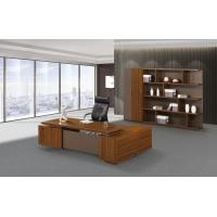 Quality 200cm Brown Office Desk With Storage , Modern Office Desk Return Extension Type for sale