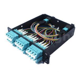 Quality 1U Distribution Box MPO Cassette Module Male - LC 24 Cores Aluminum Material for sale