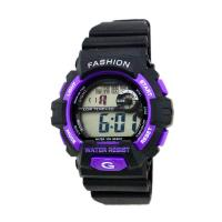 Quality Outdoor Adult Black Strap Digital Wrist Watch 24 Hour System , Water Resistant for sale