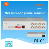 Quality 4E1 BNC Connector to 10/100Mbps Fibre Optic Switch Ethernet for sale