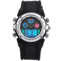 Quality EL Backlight Sport Wrist Watches Silver Case , Digital Sport Watch for sale