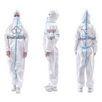 Quality Medical Grade Adult Disposable Protective Suit Antibacterial  Lightweight for sale