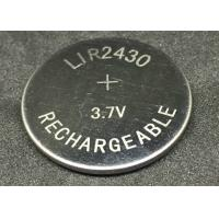 Quality Energy Saving  Li Ion Coin Cell 60mAh  LIR2430 Lithium Ion Button Battery for sale