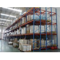 Quality Green Q235B Steel  Push Back Pallet Racking  2 To 5 Deep Easy Installation for sale