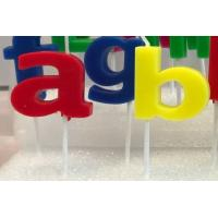 Quality Dripless Alphabet Letter Candles With White Plastic Holder For Birthday Party for sale