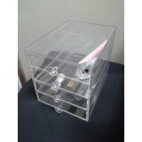 Best Clear Acrylic Cosmetic Organizer Makeup Display Box 4 Drawers Storage Organizer Display wholesale