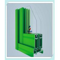 Red / Green Aluminium Window Extrusion Profiles 6 M Normal Length Acid Resistant