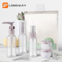 Quality 9pcs PET Lotion Spray Travel Toiletry Bottle Kit For Personal Care Customized Color for sale