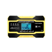 Quality 12V 10A Touch Screen Pulse Repair LCD Voltage Intelligent Car Battery Charger for sale