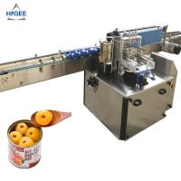 Quality Automatic canned fruit cocktail labeling machine with glass bottle cold glue labeling machine bench top wet glue labeler for sale
