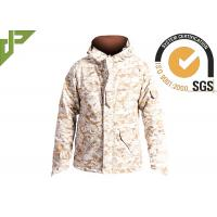 Quality Men's Desert Military Tactical Jackets For Outside Hunting Lamination Treatment for sale