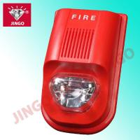 Quality Addressable fire alarm systems 24V strobe horn,flash light with hooter for sale