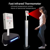 Quality Fast Infrared Thermometer Measuring Box With Floor-standing For Body Temperature Measuring for sale