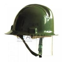 Quality Custom Marine Fire Fighting Helmet / Firefighter Rescue Helmet With Face Mask for sale