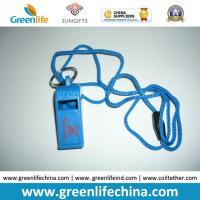 Quality Plastic Custom Logo Printing on Whistle Top Party Whistle with Cord Cheap Promotional Gift for sale