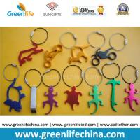 Quality Hot Selling Metal Bottle Openers w/Stainless Steel Loop Key Chain Holders for sale
