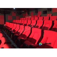Red 3D Movie Cinema / Movie Theatre Seats With Vibration System CE Approval