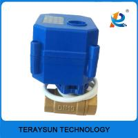 China 3/8'' Mini Brass Valve Electric Actuated Ball Valve on sale