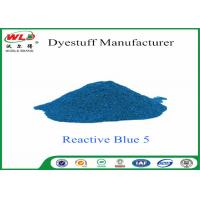 Quality Eco Friendly Textile Dyeing Of Cotton With Reactive Dyes C I Reactive Blue 5 for sale