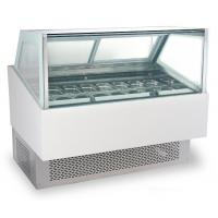 Quality 240V/50Hz Ice Cream Cake Display Freezer , Air Cooling Ice Cream Fridge with 1800mm Length for sale