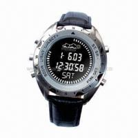 Quality Digital altimeter watch with titanium metal case for sale
