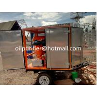 Quality Mobile OutdoorType Transformer Oil Purifier, Mobile Vacuum Oil Treatment Plant With Trailer Fully-enclosed, oil filt for sale