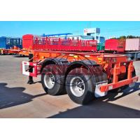 Quality 30 Tons Skeletal Container Trailer, 2 Axle 20 Foot Skeleton Semi Trailer for sale