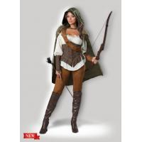 Quality Female Halloween Costumes / Halloween Adult Costumes Enchanted Forest Huntress 1139 for sale