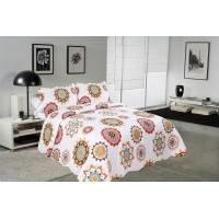 Quality Sun Flower Pattern Printed Quilt Set Needle Punched Cotton Bedspread And Coverlet for sale