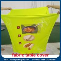 Buy cheap Custom Stretch Fabric Table Cover with Printing from wholesalers