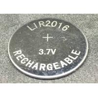 Quality Eco Friendly Lithium Ion Button Cell LIR2016 15mAh   3.7V No Pollution for sale