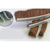 Quality 9mm x 23mm home door window weather wind seal brush self adhesive weather strip for sale
