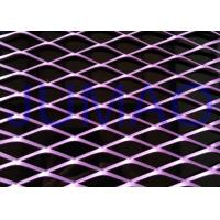 Quality Exterior Decorative Architectural Expanded Metal Rhombic Shaped Mesh Panel for sale