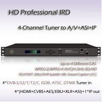 Quality 4-Channel HD Professional IRD ISDB-T Demodulation for sale
