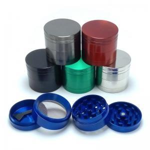 China Zinc Alloy Tobacco Grinder Herb Grinder Smoking Accessories Detectors Pipes Tools Hand-cranking Grinder on sale