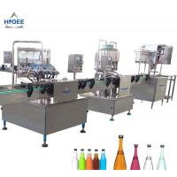 Quality 1000 Bottles Per Hour Carbonated Drink Filling Machine Self Oil Lubrication Device for sale