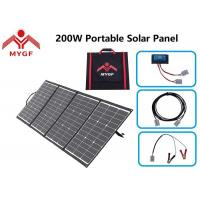 China Lightweight Portable Solar Panel 200 Watt IP67 Junction Box Continuous Power Supply on sale